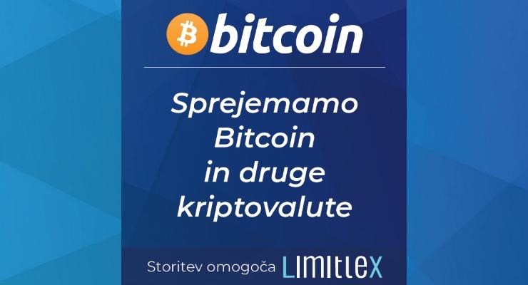Bitcoin, Litecoin in Ethereum - možnost plačila s kriptovalutami!