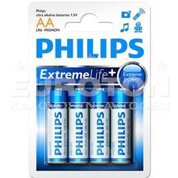 PHILIPS BATERIJA LR6 (AA) eXtreme Life ULTRA ALKALINE  4/1 - BLISTER
