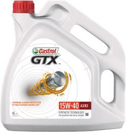 CASTROL GTX HIGH MILEAGE 15W40 4L MOTORNO OLJE