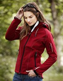 Ladies Hooded Softshell Jacket