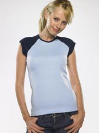 LADIES CAP SLEEVE RAGLAN T-SHIRT