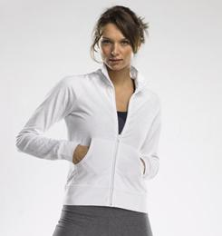 LADIES COTTON SPANDEX CADET JACKET