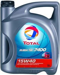 TOTAL RUBIA TIR 7400 15W40 5L OLJE ZA TOVORNA VOZILA