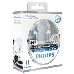 PHILIPS ŽARNICA H7 WhiteVision SM 2/1 + 2X W5W