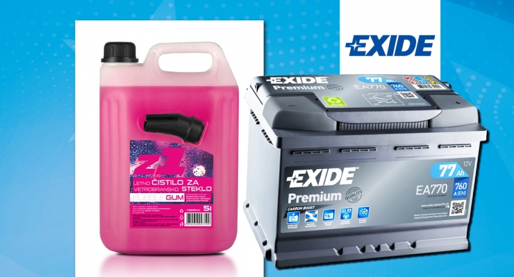 Akcija meseca - akumulatorji EXIDE
